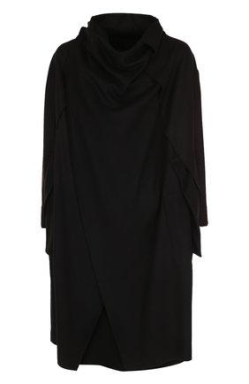 Шерстяное пальто асимметричного кроя | Фото №1