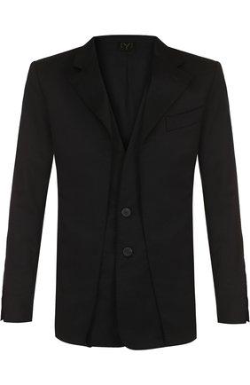 Однобортный пиджак на двух пуговицах | Фото №1