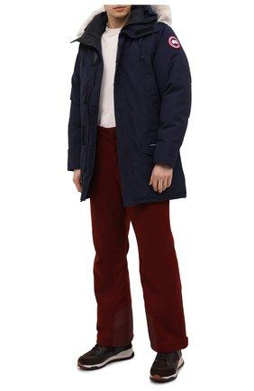 Мужская пуховая парка langford с меховой отделкой CANADA GOOSE синего цвета, арт. 2062M | Фото 2 (Материал подклада: Синтетический материал; Рукава: Длинные; Материал внешний: Синтетический материал; Кросс-КТ: Куртка; Мужское Кросс-КТ: пуховик-короткий; Длина (верхняя одежда): До середины бедра; Материал утеплителя: Пух и перо)