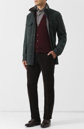 Мужской шерстяной жилет на пуговицах LORO PIANA бордового цвета, арт. FAI2862 | Фото 2