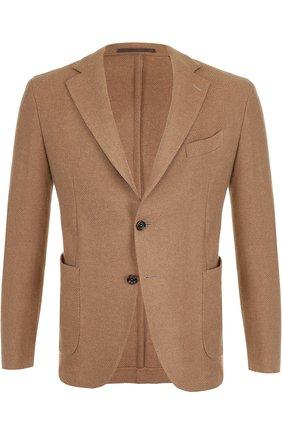 Однобортный пиджак из шерсти Eleventy UOMO бежевый   Фото №1