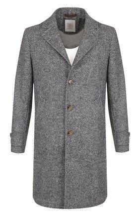 Однобортное шерстяное пальто Eleventy Platinum серого цвета | Фото №1