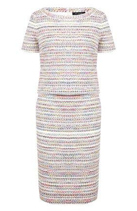Вязаное платье с круглым вырезом St. John разноцветное | Фото №1