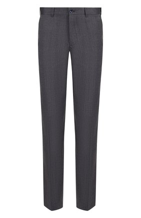Мужские брюки прямого кроя из смеси шерсти и шелка ZILLI серого цвета, арт. M0Q-40-38N--46404/0001 | Фото 1 (Длина (брюки, джинсы): Стандартные; Материал внешний: Шерсть; Статус проверки: Проверено; Случай: Повседневный; Стили: Кэжуэл)