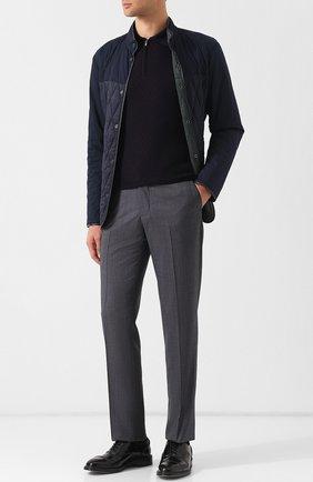 Мужские брюки прямого кроя из смеси шерсти и шелка ZILLI серого цвета, арт. M0Q-40-38N--46404/0001 | Фото 2 (Длина (брюки, джинсы): Стандартные; Материал внешний: Шерсть; Статус проверки: Проверено; Случай: Повседневный; Стили: Кэжуэл)