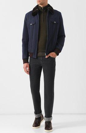 Мужские джинсы прямого кроя ZILLI серого цвета, арт. MCQ-00052-JALI2/R001 | Фото 2 (Статус проверки: Проверено, Проверена категория; Материал внешний: Хлопок; Длина (брюки, джинсы): Стандартные; Кросс-КТ: Деним; Силуэт М (брюки): Прямые)