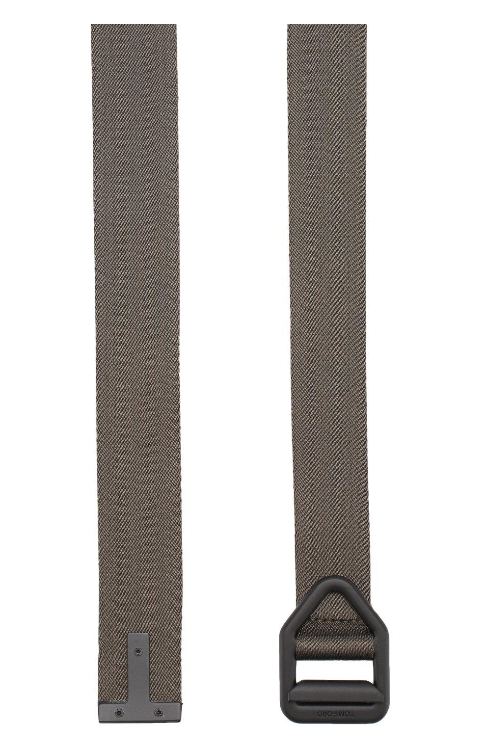 Мужской текстильный ремень TOM FORD хаки цвета, арт. TB236G-W11 | Фото 2