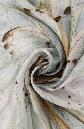 Шелковый платок с принтом Alexander McQueen зеленый   Фото №1