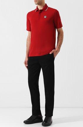 Мужской шерстяные брюки прямого кроя Z ZEGNA черного цвета, арт. VR475/ZZTP60 | Фото 2