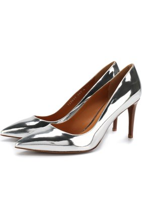Туфли из металлизированной кожи на шпильке | Фото №1