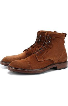 Замшевые ботинки на шнуровке Antonio Maurizi коричневые | Фото №1