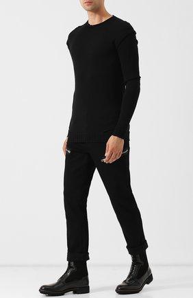 Высокие кожаные ботинки на шнуровке Antonio Maurizi черные | Фото №1