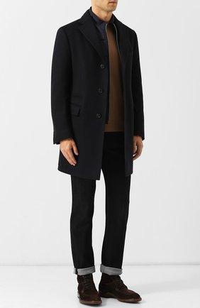 Замшевые ботинки с внутренней меховой отделкой Antonio Maurizi темно-коричневые | Фото №1