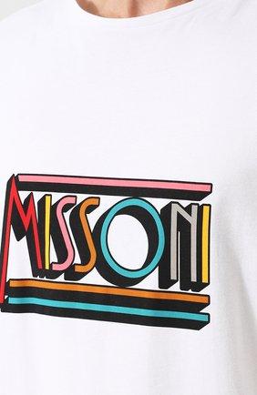 Хлопковая футболка с принтом | Фото №5