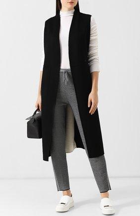 Шерстяной пуловер с оборками и воротником-стойкой MRZ белый | Фото №1