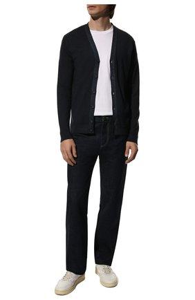 Мужской шерстяной кардиган DANIELE FIESOLI темно-синего цвета, арт. DF 0006 | Фото 2 (Рукава: Длинные; Материал внешний: Шерсть; Длина (для топов): Стандартные; Статус проверки: Проверено, Проверена категория; Стили: Классический; Мужское Кросс-КТ: Кардиган-одежда)