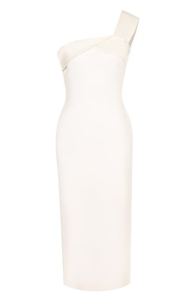 Однотонное приталенное платье-миди | Фото №1