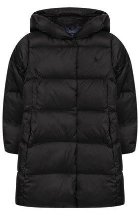 Стеганое пальто с капюшоном | Фото №1