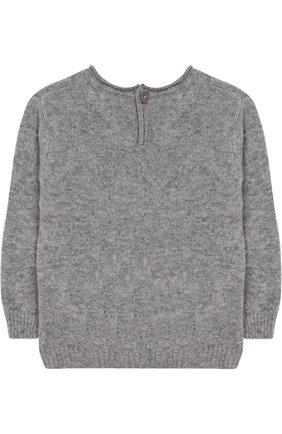 Пуловер с пуговицами на спине Aletta серого цвета   Фото №1