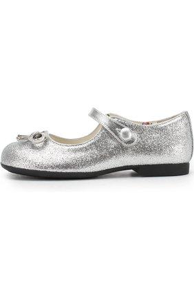 Туфли с глиттером и перемычкой | Фото №2