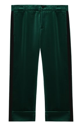 Бархатные брюки в пижамном стиле | Фото №1