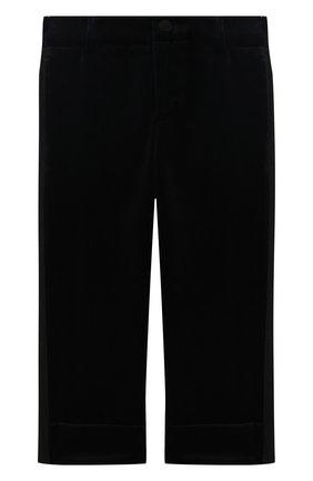 Бархатные брюки прямого кроя | Фото №1