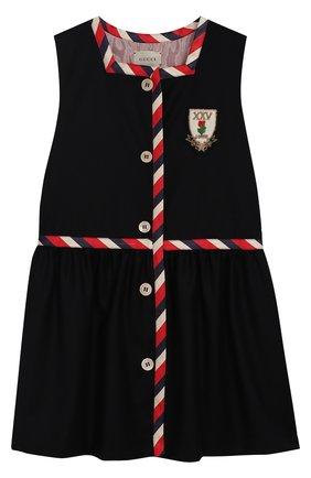 Платье из смеси шерсти и кашемира с отделкой | Фото №1