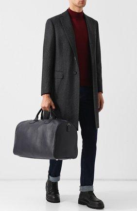 Мужская кожаная дорожная сумка с плечевым ремнем CORNELIANI темно-синего цвета, арт. 00TL41-0021800/00 | Фото 2