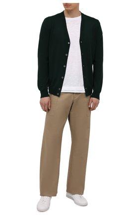 Мужской шерстяной кардиган GRAN SASSO темно-зеленого цвета, арт. 55123/14264   Фото 2