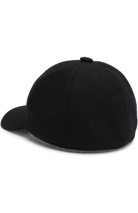 Мужской кашемировая бейсболка FEDELI черного цвета, арт. 1UI00806 | Фото 2