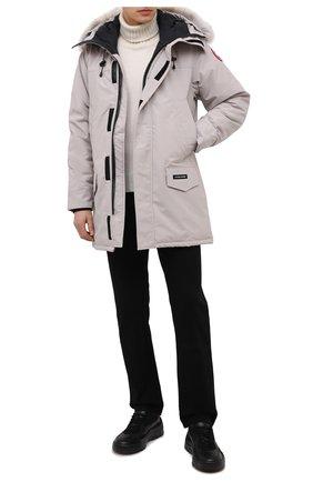 Мужская пуховая парка langford с меховой отделкой CANADA GOOSE светло-серого цвета, арт. 2062M | Фото 2
