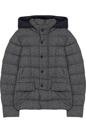 Текстильная куртка с капюшоном   Фото №1