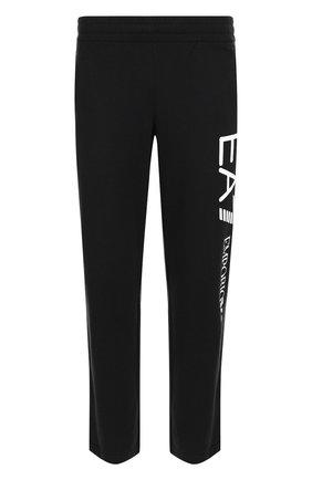 Хлопковые брюки прямого кроя с поясом на резинке | Фото №1