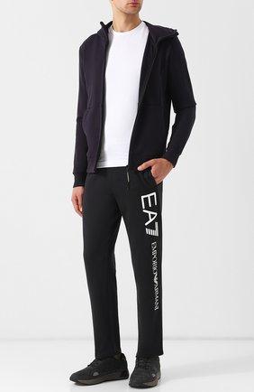 Хлопковые брюки прямого кроя с поясом на резинке | Фото №2