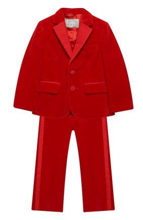 Бархатный костюм из пиджака и брюк | Фото №1