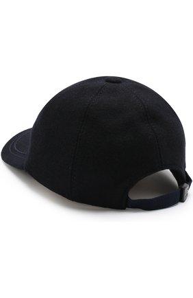 Шерстяная бейсболка с логотипом бренда Paul&Shark темно-синего цвета | Фото №1