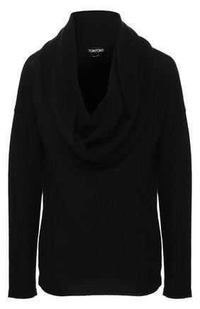 Однотонный кашемировый пуловер с объемным воротником | Фото №1