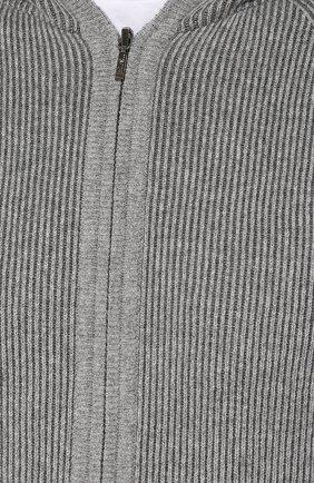 Мужской кашемировый кардиган LORO PIANA серого цвета, арт. FAI1868 | Фото 5
