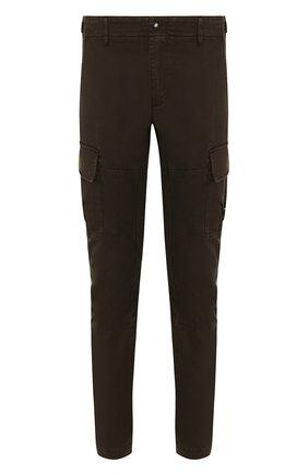 Хлопковые брюки-карго прямого кроя C.P. Company хаки | Фото №1