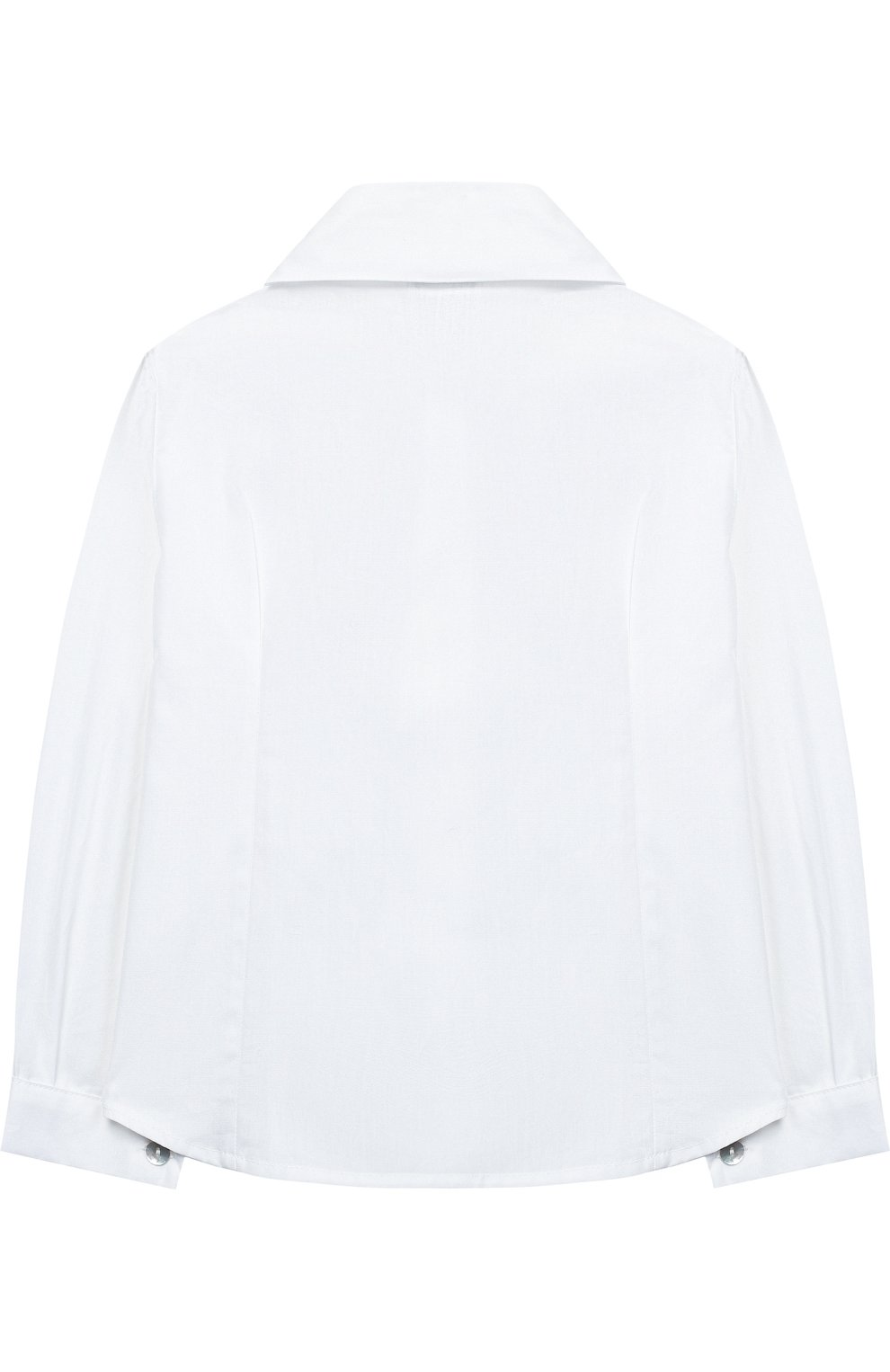 Хлопковая блуза с декором   Фото №2