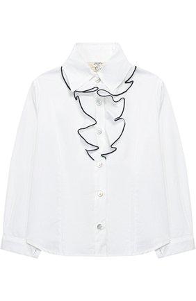 Хлопковая блуза с декором | Фото №1