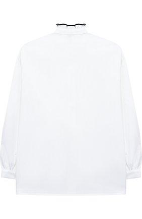 Хлопковая блуза с оборкой   Фото №2