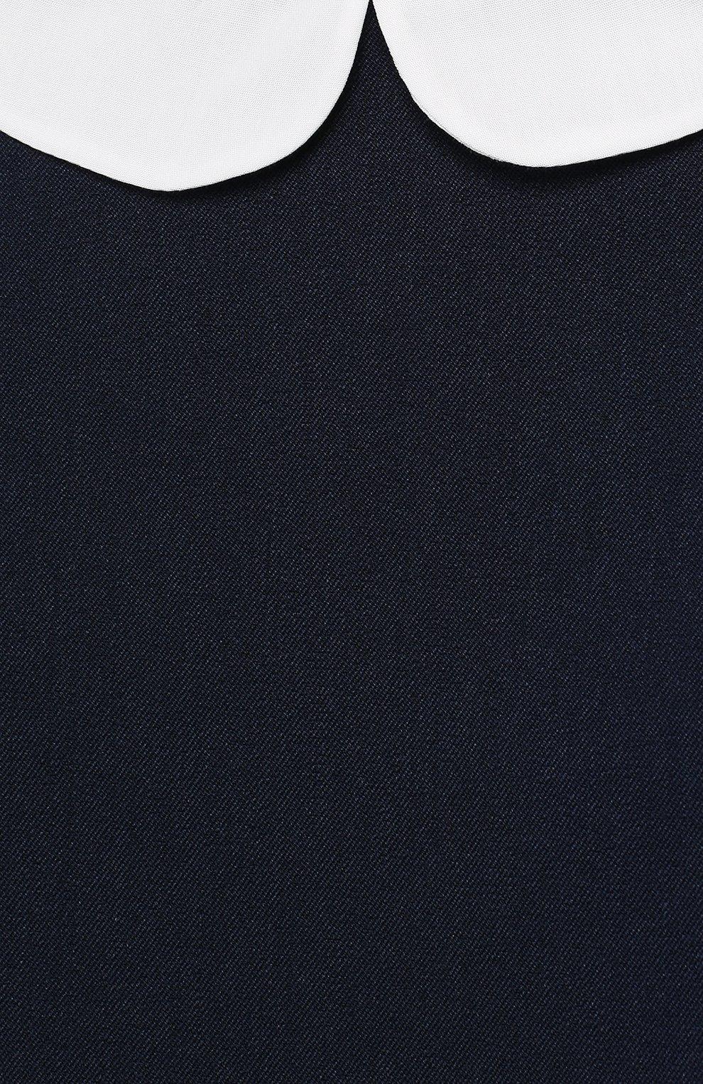Блуза с баской и контрастной отделкой | Фото №3