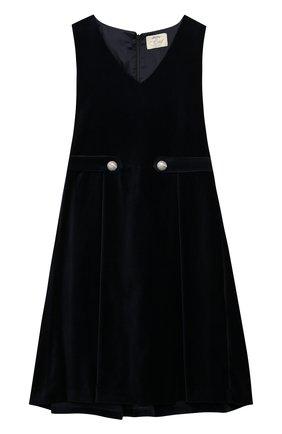 Бархатное платье с защипами   Фото №1