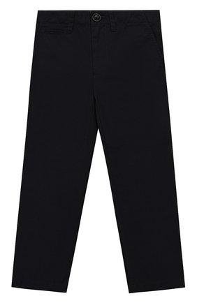 Детские хлопковые брюки прямого кроя BURBERRY синего цвета, арт. 4063182 | Фото 1