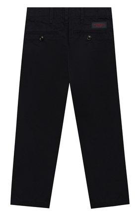 Детские хлопковые брюки прямого кроя BURBERRY синего цвета, арт. 4063182 | Фото 2
