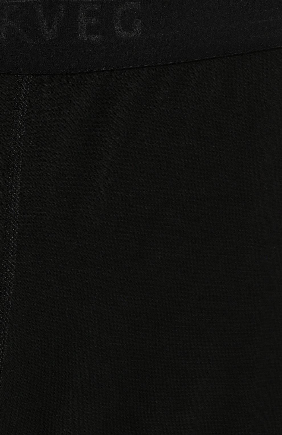 Детские леггинсы с широкой резинкой Norveg черного цвета | Фото №3