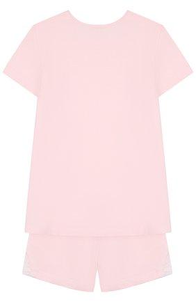 Пижама из смеси хлопка и вискозы Sanetta розового цвета | Фото №1