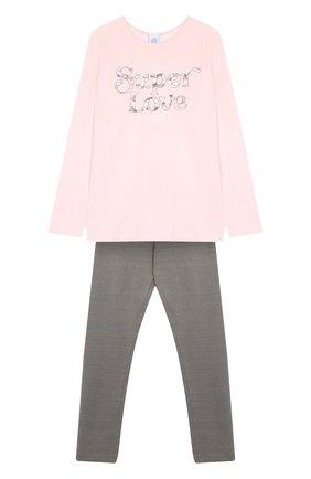 Хлопковая пижама Sanetta розового цвета | Фото №1