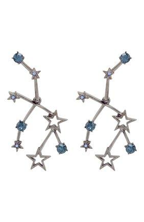 Серьги с кристаллами Swarovski Oscar de la Renta серебряные | Фото №1